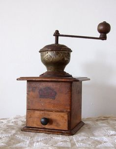 Vintage German coffee mill grinder wooden country decor B.C. Geschmiedeles Mahlwerk RESERVED LISTING for Robinegg17, intial payment