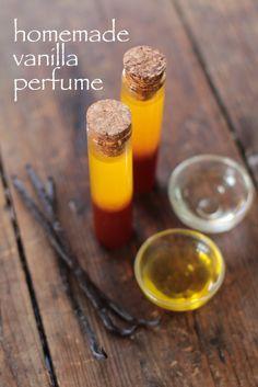 DIY perfume. Love vanilla!