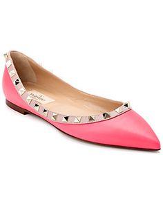 Valentino 'Rockstud' Leather Ballet Flat! @Rue La La today! #Valentinoshoes #RueLaLa #Mystyle $599.00 on sale.