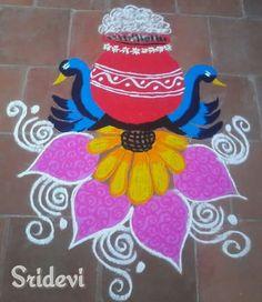 Pongal rangoli by Sridevi