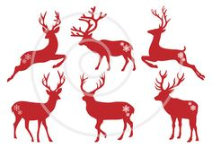 Hey, I found this really awesome Etsy listing at http://www.etsy.com/listing/113074120/christmas-deer-reindeer-stag-silhouettes