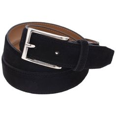 FLATSEVEN Mens Casual Solid Color Suede Belt with Single Prong Metal... (48 CAD) ❤ liked on Polyvore featuring men's fashion, men's accessories, men's belts and mens belts