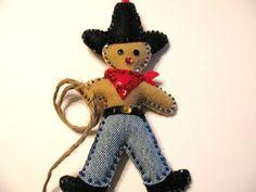 Western+Gingerbread+man+holiday+ornaments++by+cuttingupintexas,+$10.00