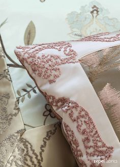 ORIENT EXPRESS An elegant collaboration of sateen's, embroidered and jacquard designs. Beautiful bouche and modern floral designs are comprehended by the sensitive feminine and delicate palette of powder sky blues, heather blush pinks and warm taupes and gold's. Suitable of all soft furnishings and decorators this collection is a must. http://www.zepelfabrics.com./our-brands/zepel-fabrics/collections/490/orient-express.html