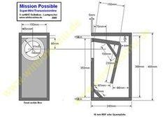 Mission Possible - kompakte Mini-TML mit Koax Diy Subwoofer, Subwoofer Box Design, Speaker Box Design, Diy Electronics, Electronics Projects, Speaker Plans, Vinyl Room, Electronic Schematics, Home Speakers