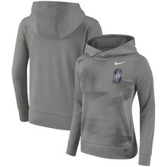 Women's Seattle Mariners Nike Gray Performance Pullover Hoodie