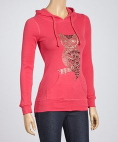 Take a look at this Fuchsia Owl Hoodie by Sweet Girl on #zulily today!