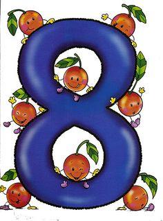 MAESTRA ERIKA VALECILLO: NÚMEROS DEL 1 AL 10 Farm Animals Preschool, Numbers Preschool, Math Numbers, Preschool Worksheets, Letters And Numbers, Math For Kids, Lessons For Kids, Math Tools, Cartoon Clip