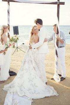 DIY Weddings: See This Blogger's Ethereal Beach Wedding via Brit + Co.