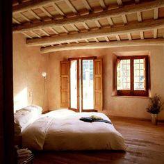 From Build Naturally with Sigi Koko; peeled log beams, strawbale walls with deep…