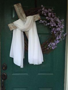 35 Best ideas for easter door decorations Wreath Crafts, Diy Wreath, Door Wreaths, Wreaths For Front Door, Grapevine Wreath, Wreath Ideas, Holiday Wreaths, Holiday Crafts, Easter Wreaths Diy