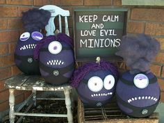 """Evil Minions"" pumpkins by Shelley B., Grimsby, Ontario"