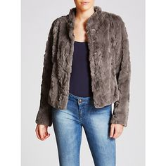Buy Gerry Weber Faux Fur Jacket, Taupe from our Women's Coats & Jackets range at John Lewis & Partners. Slip Over, Faux Fur Jacket, Taupe, Dark, Coat, Long Sleeve, Casual, Sweaters, Stuff To Buy