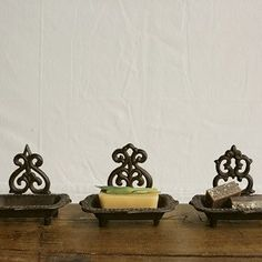 Cast Iron Soap Dish - to hold rings, for wall