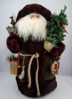 "Forrest Friends Santa - Santa Claus Doll - 21"" Tall - pinned by pin4etsy.com"