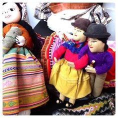 I love the faces on handmade #dolls by #Bolivian #artist #BertaSoto. She was selling this pair at the #SumaQamaña Boliviian Festival at #NMAINYC. #tomboloartmedia #handicrafts #latinamerica