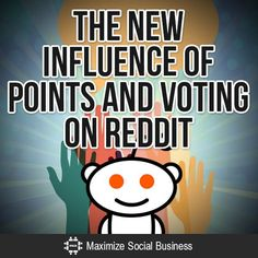 The New Influence of Points and Voting on Reddit