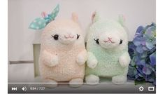 "These alpaca softies are giving me the ""awwww""s this morning.  They're just so cute!!  BudgetHobby shares a video showing how you can make them.  They're made from socks.  Fuzzy chenille socks will..."