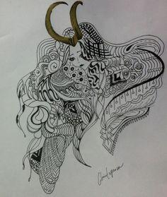 Original ART by gloria espinoza. loki girl.
