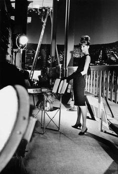 Audrey Hepburn on the set of Paris When It Sizzles (French Vogue 1962)