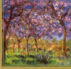 Impressionist Decoupage Napkins  Monet's Springtime by Chiarotino