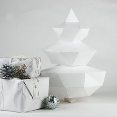 DIY Geometric Paper x-mas tree Template final by Imprimables