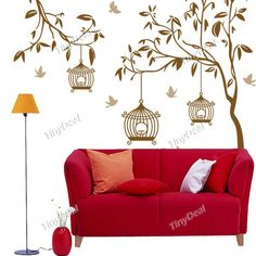 DIY Adhesive Decoration Removable Wall Stickers Mural Decal Sticking Decor Wallpaper - Tree Style HDS-87472