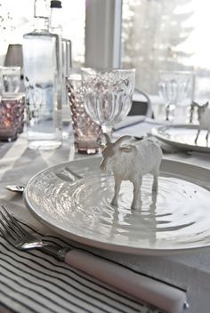 Christmas table decorations - Den gode feen