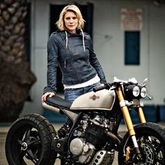 Wouldn't it be great to build motorcycles for a living? If that thought has ever crossed your mind, John Ryland of Classified Moto has some great advice. He's built machines for the likes of Katee Sackhoff (pictured) and Norman Reedus. He talks about making the leap from your day job, building your brand and keeping your ego in check. Read more at http://www.bikeexif.com/build-custom-motorcycles