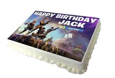 FORTNITE A4 Birthday Cake Topper with Any Name