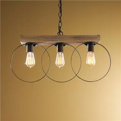 Three Ring Pendant Light
