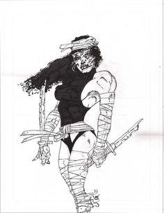 Elektra By Frank Miller Comic Art