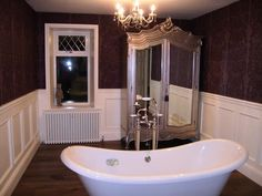 Genial Traditional Bathroom Ideas With Nice Wall Tile Alternative Using Antique  Cupboard And Elegant Clawfoot Tub, Alternative To Cement Board Under Tile,  ...