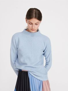 Jumper with stand up collar, Jumpers, Cardigans, blue, RESERVED Jumper, Turtle Neck, Stuff To Buy, Collection, Fashion, Moda, Fashion Styles, Jumpers, Fashion Illustrations