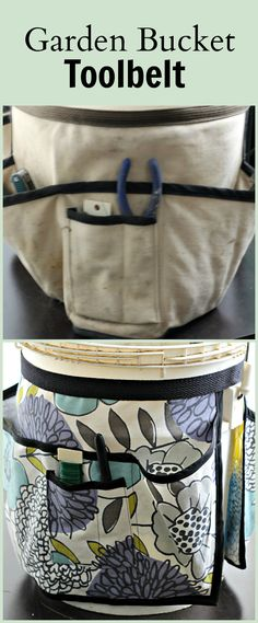 Wouldn't you love this pretty garden bucket toolbelt to carry around in the garden? The old one was dingy and boring but now there are so many fun fabrics to choose from. Check this easy tutorial which will walk you through the steps. ~gardenmatter.com