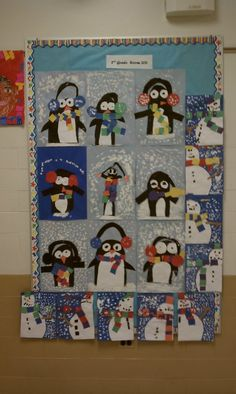 Cute penguins... Seems like a project for you, katie laba!
