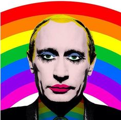 "Putin / Putz:  the Russian parliament has passed a new law that prohibits ""gay propaganda"". This includes a ban on the rainbow. The world needs more rainbows, not less. Spread the love.   #LGBT #LGBTPride"