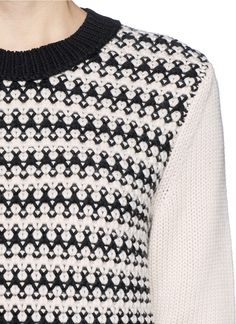 TORY BURCH - 'Maxeen' mix knit sweater | Multi-colour Sweater Knitwear | Womenswear | Lane Crawford