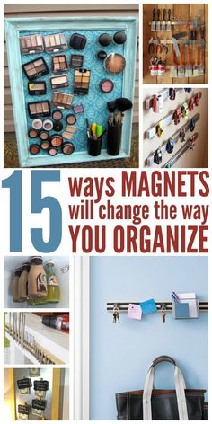 Everybody had random magnets lying around the house. Why not use them to your advantage by organizing the little things that can cause clutter?