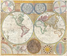 Samuel Dunn's 1794 World Map #map