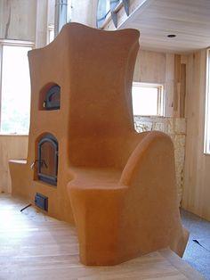 Gorgeous masonry stove with cob