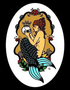 Items similar to Modern Cross Stitch Kit 'Sephina's Secret ' By Illustrated Ink - Tattoo Art on Etsy Trendy Tattoos, New Tattoos, Cool Tattoos, Tatoos, Ink Tattoo, Sleeve Tattoos, Tattoo Thigh, Tattoo Moon, Victorian Tattoo