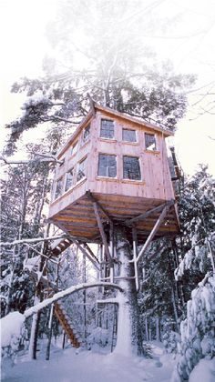 The Uppermost House, our 300 sq. ft. timberframe treehouse in the Maine woods, is full of odd things. Perhaps the oddest, is the drawbridge—it certainly gets the most comments. Cobbled together out of timbers, lumber, cables, pulleys, boulders, and plumbing supplies, it is a contraption in the finest Rube Goldberg tradition.