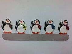 Five Little Penguins #polar #penguins #flannelfriday #flannelboards #counting