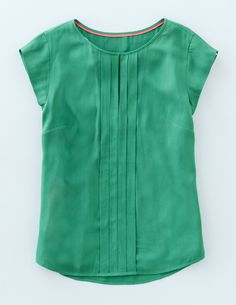 Pleat Front Top WA703 Tops & T-shirts at Boden