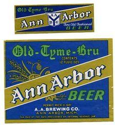 Vintage beer branding