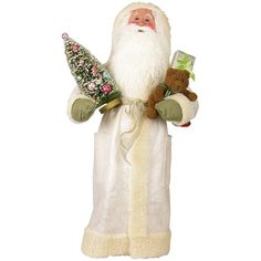 Byers' Choice White Display Santa
