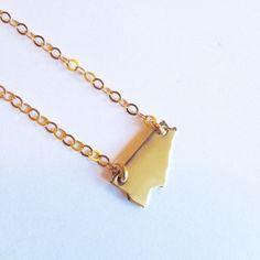'Toronto' pendant small gold