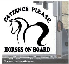 SHARE THE TRAIL Horse Rider Vinyl Decal Sticker C