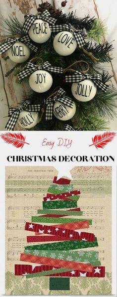 Best DIY Christmas Decoratıon 2020 #diychristmasdecor Diy Christmas Decorations Easy, Christmas Ornament Crafts, Christmas Ideas, Christmas Tree, Holiday Decor, Cricut Explore, Peace And Love, Easy Diy, Amazing
